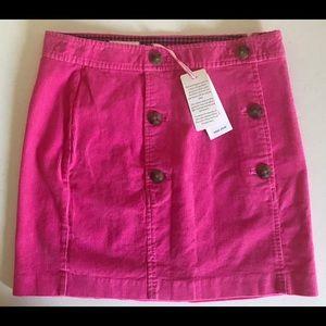 Vineyard Vines Corduroy Sailor Skirt Size 0 Pink
